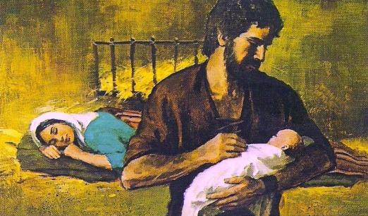 joseph holding baby
